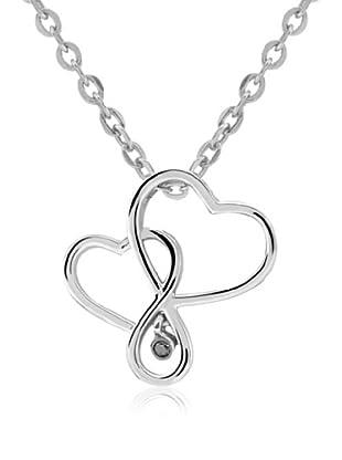 Divas Diamond Collar Black Diamante Corazón