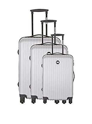 BAGSTONE Set de 3 trolleys rígidos Blue