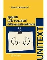 Appunti sulle equazioni differenziali ordinarie (UNITEXT)