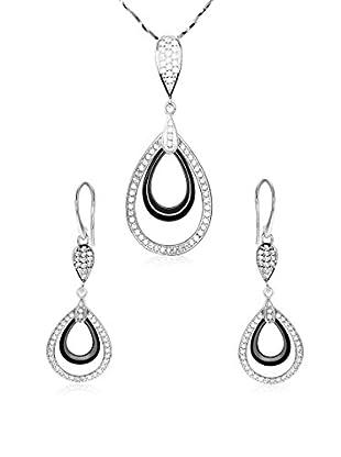 Stella Maris Conjunto de collar y pendientes plata de ley 925 milésimas