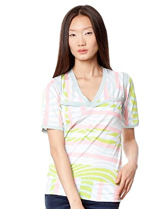 Custo Camiseta (Blanco / Verde / Celeste)