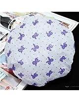 Plastic Lace Waterproof Shower Caps Protect Hair Cap
