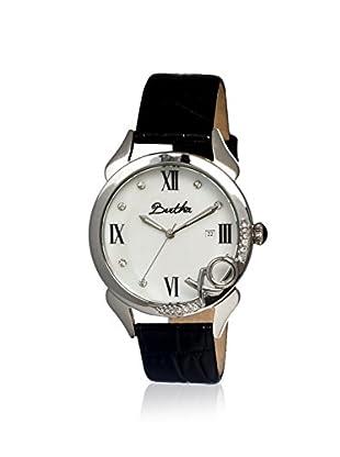 Bertha Women's BR2302 XO Black/White Leather Watch