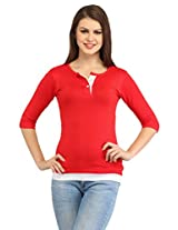 Cation Women's Cotton Top (Top_5085_m _Coral_Medium)