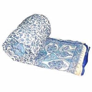 Gauba Cotton Jaipuri Razai (AC Quilt) White Base - Double Bed Size