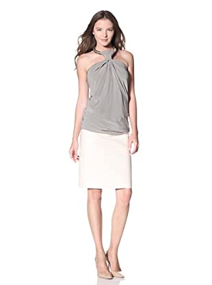 KaufmanFranco Women's Sandwashed Silk Top (Grey)