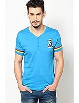 Blue Henley T Shirts