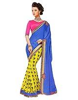 Gopalclothdesigner Art Silk Resham Saree (iwgy146_Multicolor)