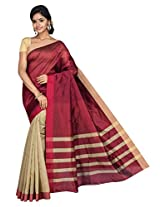 Korni Cotton Silk s Saree With Blouse Piece (Kr0449 _Multi-Coloured)