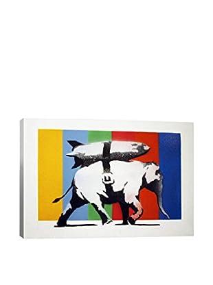 Banksy Heavy Weaponry Rocket Bomb Elephant Gallery Wrapped Canvas Print