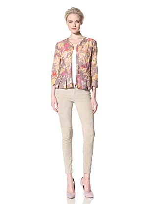 GREGORY PARKINSON Women's Printed Lace Jacket (Smokey Lilies)