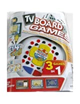 3-In-1 Plug N Play TV Board Game featuring Boggle, Connect 4, Roll Over