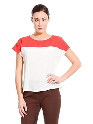 Cortefiel  Top Bicolor (Rojo / Blanco)