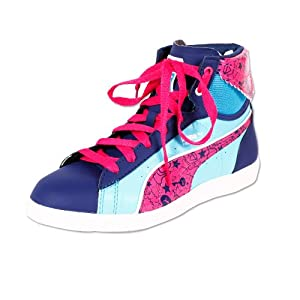 PUMA First Round Secret Pok Junior - twilight blue-blue atoll-quarry-magenta