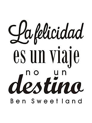 LO+DEMODA Wandtattoo La Felicidad Es Un Viaje
