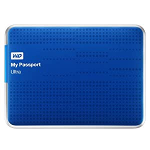 WD My Passport Ultra 2TB Portable Hard Drive - Blue