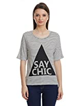 United Colors Of Benetton Women's Striped T-Shirt