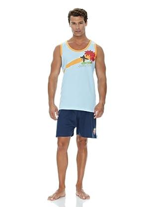 Monthalt Pijama Sport Estampado (Azul)