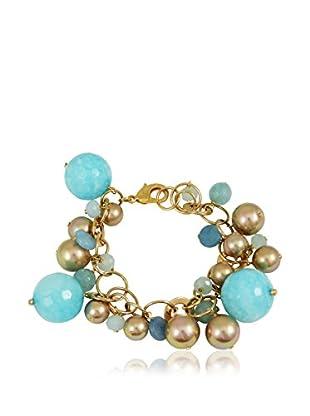 Devota & Lomba Armband blau/goldfarben