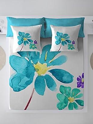 COSTURA Juego De Sábanas Blue Blossom