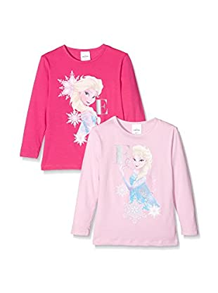 Fantasia Pack x 2 Camiseta Manga Larga Elsa Girl