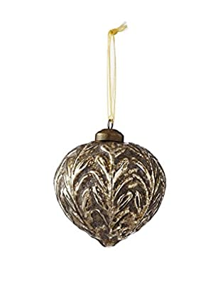Sage & Co. Glass Ruched Onion Ornament