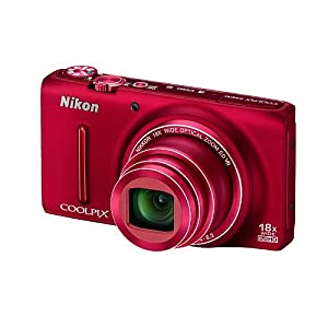 Nikon Coolpix S9400 Point-and-Shoot Digital Camera (Red) with 4GB Card, Camera Pouch, HDMI Cable