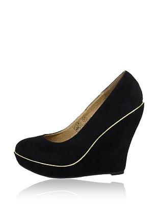Buffalo Girl 324836 SY SUEDE 140876 - Zapatos de vestir  mujer (Negro)