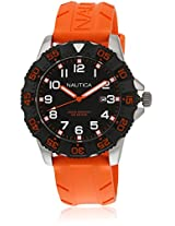 Orange Analog Watch