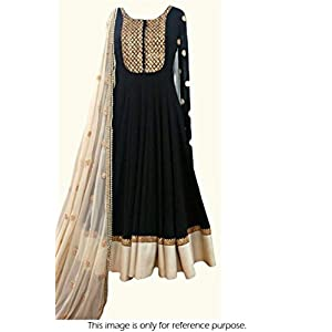 Meni Queen Pure Georgette Suit in Black