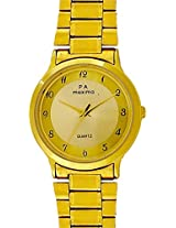 Maxima Gold Analog Gold Dial Men's Watch - 01581CMGY