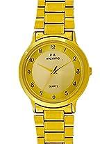 Maxima Gold Analog Gold Dial Men's Watch - 01581CMGY