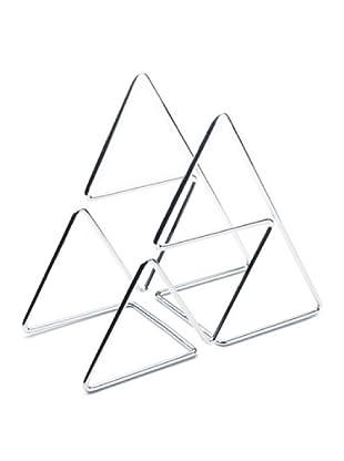 Versa 10860042 - Botellero en forma de pirámide, cromado