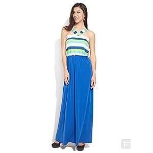 Avirate Medium Blue Ocean Spray Maxi Dress