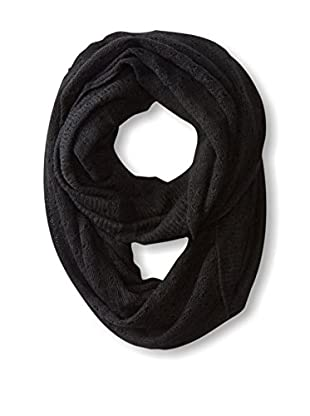 Michael Stars Women's Open Knit Eternity Scarf, Black
