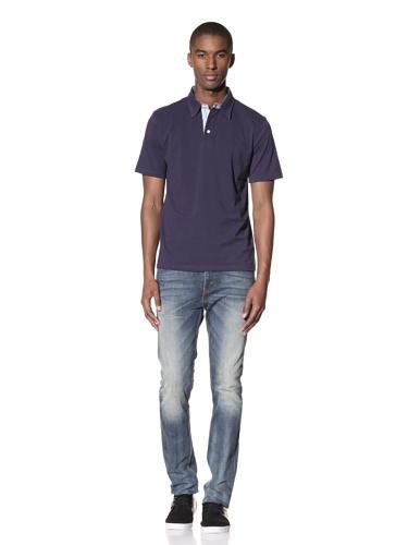 Report Collection Men's Pique Polo Shirt (Navy)