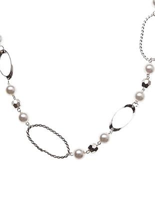Sigris Collar Bolas Facetadas (nácar)