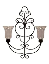 Biedermann & Sons Iron Wall Sconce with 2 Candleholders