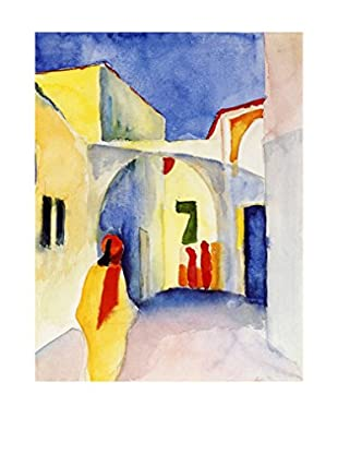 Legendarte Lienzo Vista Di Un Vicolo A Tunisi di August Macke