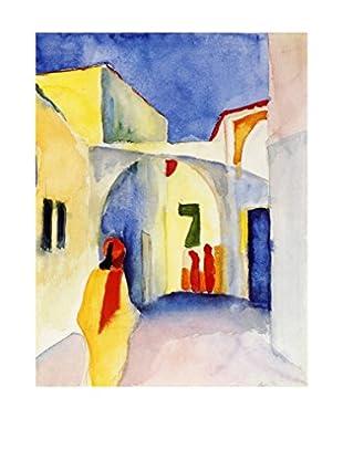 Legendarte Leinwandbild Vista Di Un Vicolo A Tunisi di August Macke