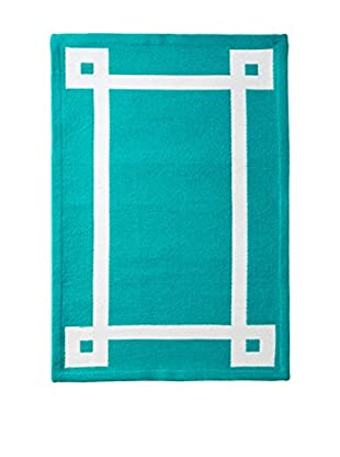 Happy Chic by Jonathan Adler Outdoor Rug, Teal, 2' x 3'