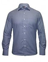 Peter England Blue Checks Shirt
