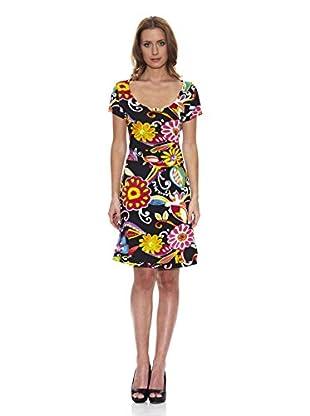 Peace & Love Kleid gemustert (mehrfarbig)