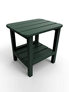 "Malibu Outdoor Furniture 15"" x 19"" End Table (Turf Green)"