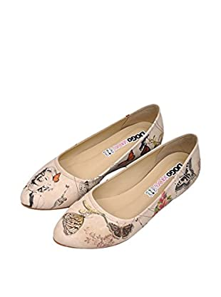 Dogo Bailarinas Marilyn With Butterflies (Beige)