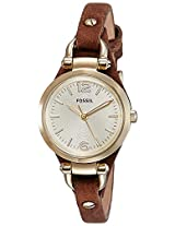 Fossil Georgia Analog Gold Dial Women's Watch -ES3264
