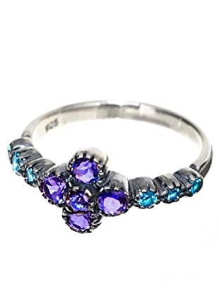 Melin Paris Anillo Lolite y Topacio Azul