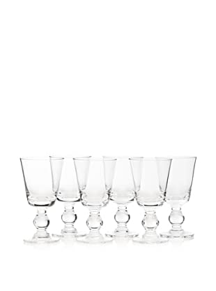 La Rochère Set of 6 Bocage Décor 7-Oz. Wine Glasses