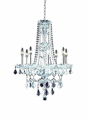 Crystal Lighting Giselle 8-Light Chandelier, Chrome