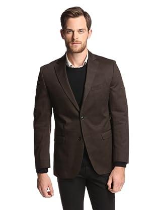 Simon Spurr Men's Basic Check 2-Button Sportcoat (Brown/Black)